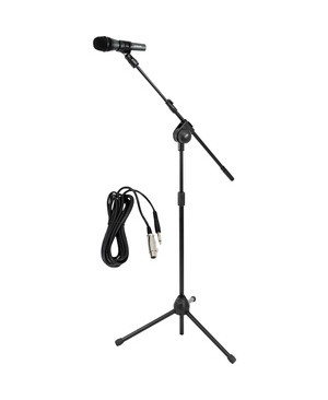 Pyle - Pro Sound MICROPHONE & TRIPOD STAND W/ EXTENDING BOOM & MIC CABLE