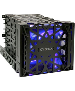 Icy Dock BLACK VORTEX MB074SP-B 4BAY 3.5 HARD DRIVE COOLER CAGE