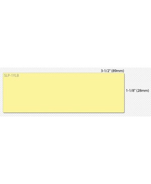 Seiko Instruments Labels QTY130 1-1/8IN X 3-1/2IN YELLOW FOR SEIKO LABEL PRINTERS