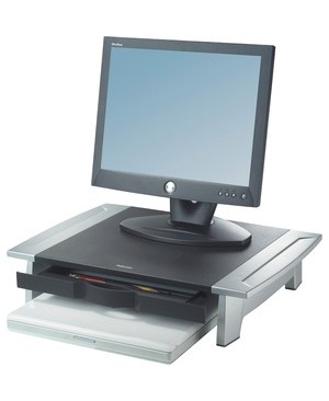 Fellowes OFFICE SUITES MONITOR RISER HEIGHT ADJUST SILVER/BLACK