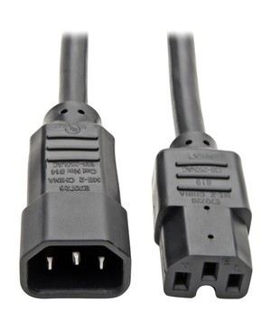 Tripp Lite 2FT COMPUTER POWER CORD 14AWG 15A C14 TO C15 HEAVY DUTY