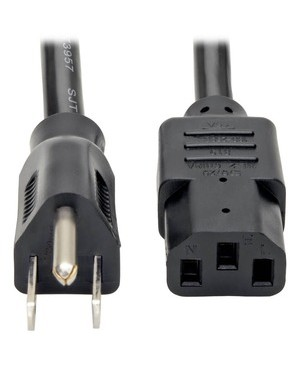 Tripp Lite 12FT COMPUTER POWER CORD 14AWG 15A 125V 5-15P TO C13 HEAVY DUTY