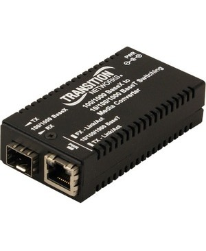 Transition Networks 10/100/1000BSE-T 100/1000BSE-X MINI SFP MEDIA CONVERTER W/NA PS