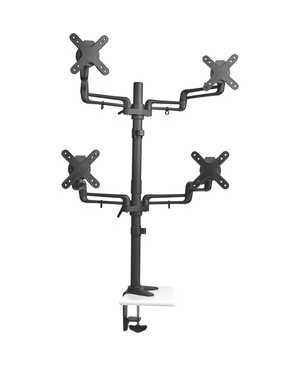 Tripp Lite QUAD MONITOR DESK MOUNT 13-27IN SWIVEL TILT ROTATE FLEX ARM CLAMP