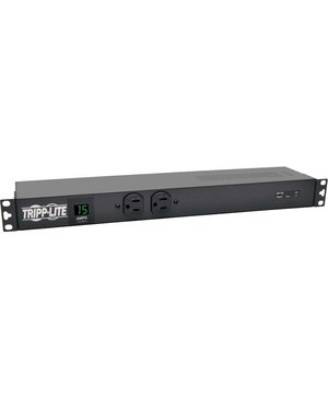 Tripp Lite PDU METERED 1.44KW ISOBAR SURGE 120V 15A 14 5-15R 5-15P 3840 JOULES