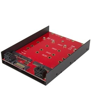 Startech.Com 3.5IN MOUNTING ADAPTER FOR FOUR M.2 SSDS M.2 NGFF TO SATA