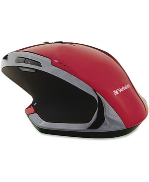 Verbatim Corporation WIRELESS NOTEBOOK 8BTN RED 6-DELUXE BLUE LED GRAPHITE MOUSE