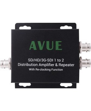 Avue SDI 1X2 DISTRIBUTION EXTENDER SUPPORT 3G/HD/SD-SDI W/ RECLOCKING