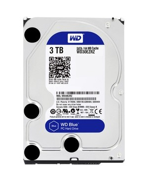 Western Digital-Desktop Single 3TB  BLUE SATA 5400 RPM 64MB 6GB/S 3.5IN PC HARD DRIVE