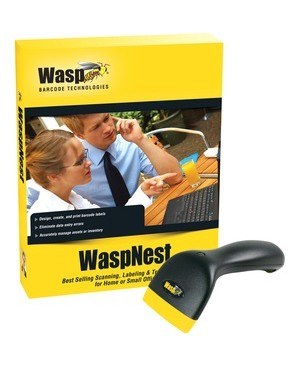 Wasp Barcode Technologies WASPNEST SUITE WITH WCS3900 USB CCD SCANNER