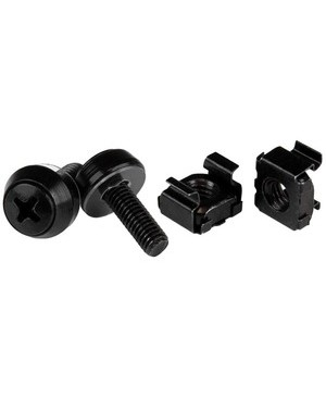 Startech.Com 100PK OF M5 MOUNTING SCREWS AND BLACK CAGE NUTSX12MM