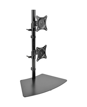 Tripp Lite DUAL MONITOR DESK MOUNT 15-27IN SWIVEL TILT ROTATE STAND CLAMP