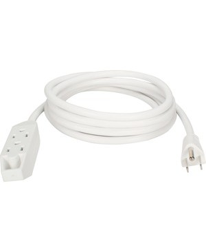 Qvs 3OUT 3-PRONG 10FT POWER EXTENSION CORD