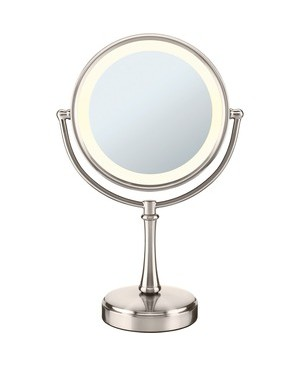 Conair-Personal Care DOUBLE-SIDED LIGHTED MIRROR TOUCH CONTROL SATIN NICKEL
