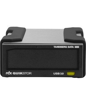 Overland RDX QuikStor 8863-RDX 500 GB Hard Drive Cartridge - External - Black - USB 3.0 - 3 Year Warranty KIT RDX QUIKSTOR W/ MS WIN BKP
