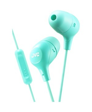 Jvc-Headphones MARSHMALLOW WIRED EARBUD ONE BUTTON REMOTE & MIC GREEN