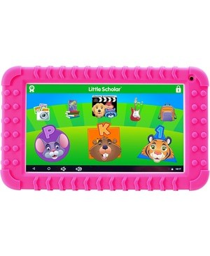 School Zone LITTLE SCHOLAR 7IN EDUCATIONAL TABLET WITH PINK BUMPER
