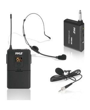 Pyle - Pro Sound WRLS MICROPHONE SYST BELTPACK TRANSMITTER W/ HEADSET & LAVALIER M