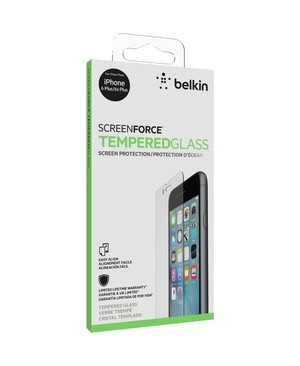 Belkin Mobile SCREENFORCE TEMPERED GLASS IPHONE 6S PLUS/6 PLUS RETAIL BOX