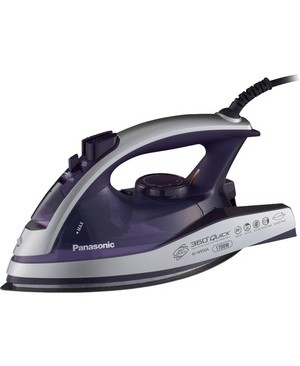 Panasonic-Small Appliances MULTIDIRECTIONAL STEAM/DRY IRON W/CURVED ALUMITE SOLEPLATE