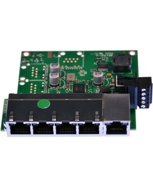 Brainboxes EMBEDDED 5PORT ETHERNET SWITCH TEMPERATURE RANGE OF -40F TO +176F