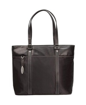 Mobile Edge ULTRA LAPTOP TOTE BLACK WITH LEATHER TRIM 17.3IN WIDESCREEN