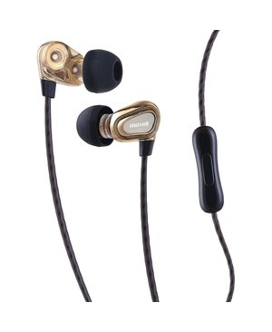 Maxell DB13-G DUAL DRIVER EARBUD /MIC 6MM + 8MM DRIVERS FOR GREAT SOUND