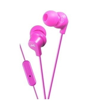 Jvc-Headphones WIRED IN EAR W MIC REMOTE VIVID COLOR GUMY ALTERNATIVE