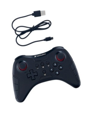 Verbatim Corporation WIRELESS CONTROLLER FOR USE WITH NINTENDO SWITCH BLACK