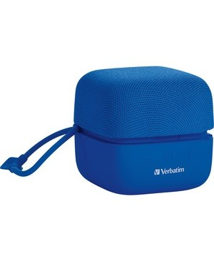 Verbatim Corporation WIRELESS CUBE BLUETOOTH SPEAKER BLUE