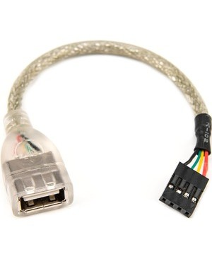 Rocstor 6IN USB A 2.0 F/F MOTHERBOARD CABLE 4PIN HEADER FF