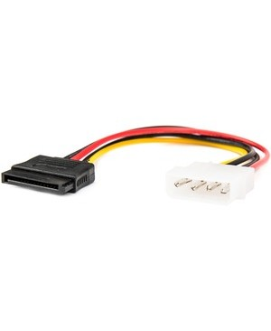 Rocstor 6IN 4PIN MOLEX TO SATA LP4 ADAPTER