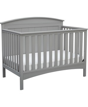Delta Children DELTA CHILDREN ARCHER 4-IN-1 CONVERTIBLE CRIB GREY