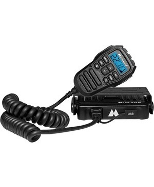 Midland MicroMobile GMRS 2-Way Radio - For Walkie-talkie with NOAA All Hazard - 15 Weather - 15 W 15W 15CH MOUNT H/W CAR PWR ANTENNA