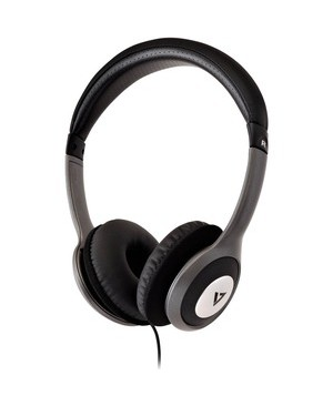 V7 Audio 1.8M DELUXE 3.5MM STEREO HEADPHONES ON-EAR W/VOL CTRL CABL