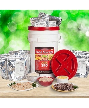 Worryfree Gadgets EMERGENCYFOOD STORAGE KIT CHEF S BANQUET 390 SERVINGS 30DAY