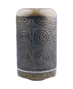 Worryfree Gadgets 250ML AROMATHERAPY OIL DIFFUSER METAL PATTERNS DESIGN AUTO SHUT OFF