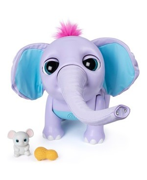 Spin Master JUNO MY BABY ELEPHANT W/ MOVING TRUNK/150 SOUNDS/MOVEMENTS