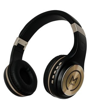 Morpheus 360 WIRELESS STEREO HEADPHONE W/MIC BLACK/GOLD BUILT-IN MICROPHONE