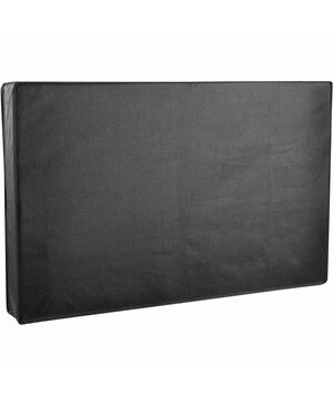 """Tripp Lite Weatherproof Outdoor TV Cover for 65"""" to 70"""" Flat-Panel Televisions and Monitors - Supports TV, Monitor, Flat Panel Display, Outdoor - Weather Proof, Sunlight Resistant, Water Resistant, Wind Resistant, Scratch Resistant, Dent Resistant, Dust Resistant, Zippered, Easy to Clean, Accessory Pocket, Remote Control Pocket, ... - Polyester - Black FOR 65-70IN TVS AND MONITORS"""