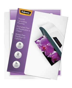 Fellowes THERMAL LAMINATING POUCHES IMAGELAST JAM FREE LETTER 3MIL 25PK