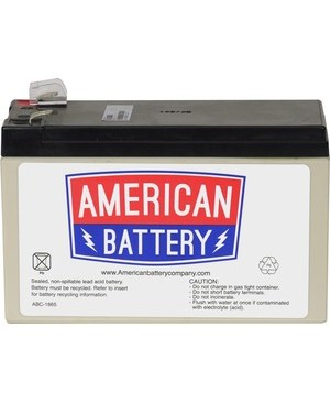 American Battery RBC17 REPLACEMENT BATTERY PK FOR APC UNITS 2YR WARRANTY