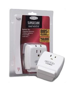 Belkin - Power 1OUT SURGECUBE WALL MOUNT HOME SERIES