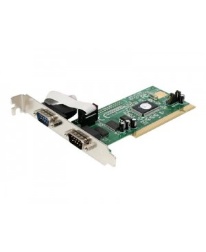 StarTech.com 2 Port PCI RS232 Serial Adapter Card with 16550 UART - serial adapter