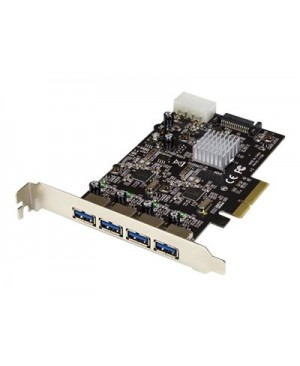 StarTech.com 4-Port USB 3.1 (10Gbps) Card - 4x USB-A with Two Dedicated Channels - PCIe - USB adapter