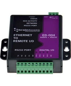 Brainboxes ETHERNET TO 4 DIO + ETHERNET TO 4 DIG IN OR OUT+1 RS232+1 ETHERNET