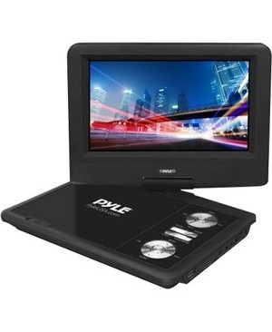 Pyle-Car Audio/Video 7IN PORTABLE CD/DVD PLAYER USB/SD CARD MEMORY READERS BLACK