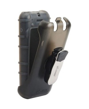 Zcover BACK OPEN SIL CASE FOR CISCO 8821 W/UNIVERSAL CLIP HOLSTER GREY