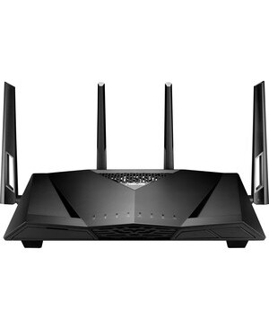 Asus CM-32 IEEE 802.11ac Ethernet Modem/Wireless Router - 2.40 GHz ISM Band - 5 GHz UNII Band - 4 x Antenna(4 x External) - 325 MB/s Wireless Speed - 4 x Network Port - 1 x Broadband Port - USB - Gigabit Ethernet - VPN Supported - Desktop USB 2.0 8CABLE AC2600WIFI