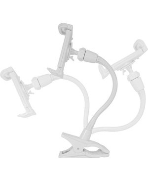 Macally Peripherals IPAD TABLET HOLDER MOUNT LONG NECK WHITE
